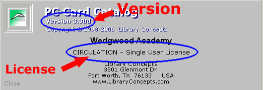 Find VERSION and LICENSE details by selecting Menu >> Help >> About